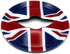 HDX - Carcasa para Mini Cooper One S JCW R56 Hatchback R57 Covertible R58 Coupe R59 Roadster 2010-2016, diseño de Bandera de Reino Unido, Color Azul y Rojo