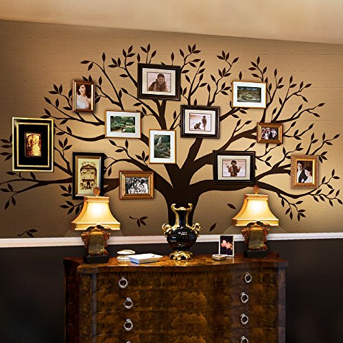 """Simple Shapes Family Tree Wall Decal by Simple Shapes (Chestnut Brown, Standard Size: 107"""" w x 90"""" h)"""
