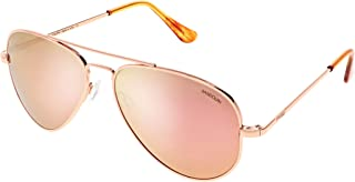 Concorde Aviator Sunglasses for Men or Women - Randolph Engineering Sunglasses. Guaranteed for Life Built to Military Spec. Authentic Pilot Aviators Made in USA. 22k Rose Gold & Rose Gold Mirror 57mm