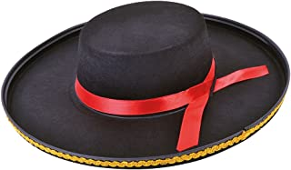 Bristol Novelty BH514 Spanish Felt Hat, Black, One Size