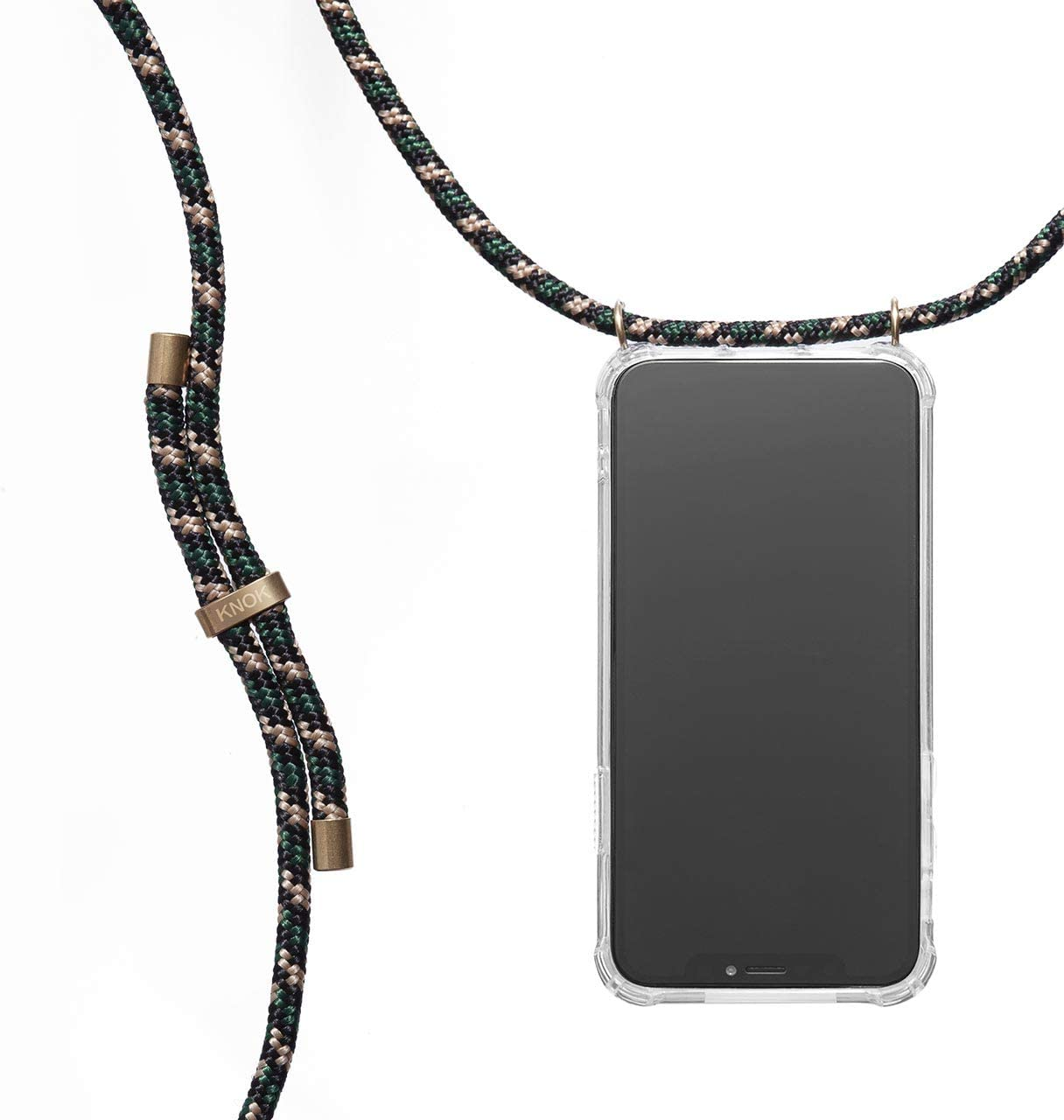 KNOK case Crossbody Phone Necklace   Mobile Cover with Cord Strap Compatible with Samsung Galaxy S10e / S10 Lite - Phone Collar Lanyard case (Samsung S10e, Camo Green)