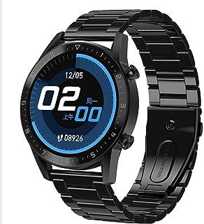 Fitness Tracker inteligentny zegarek wodoodporny IP68 Bluetooth okrągły smartwatch z wiadomościami powiadomienia bogata ta...