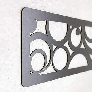 MEGADECOR Cabecero Cama PVC 10mm 3D Decorativo Económico. Holland (150cm x 60cm, Negro)