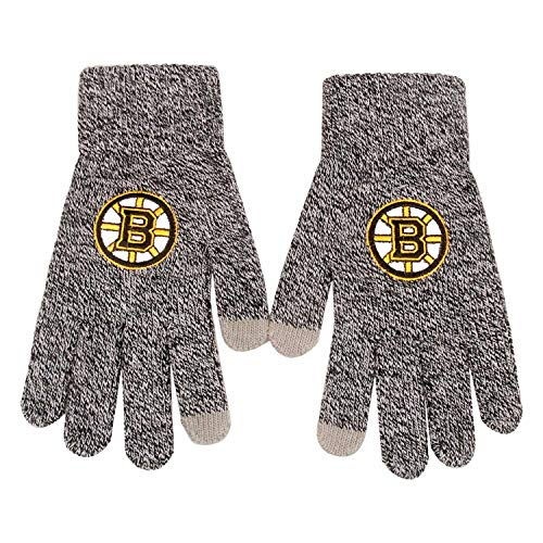 Forever Collectibles FOCO Boston Bruins Gray Knit Texting NHL Handschuhe, One Size