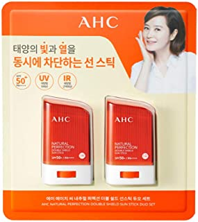 AHC Natural Perfection Double Shiled Sun Stick 22g Duo Set