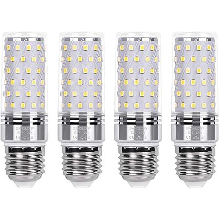 SanGlory Bombillas LED E27 12W, Blanco Frío 6000K, 1350lm LED Luz de Maiz Lampara Equivalentes a 100W Incandescente, E27 LED Bombillas Maiz de Bajo Consumo - Caja de 4 unidades