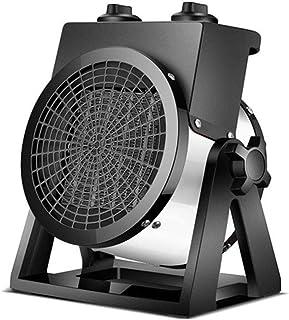 Calentador De Ventilador De Cerámica De 2000 W, Cuerpo De Metal, Protección contra Sobrecalentamiento, Oficina, Baño, Dormitorio,Negro