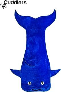 Cuddlers Luxury Ocean Blue Dolphin Huge Sleeping Bag Blanket | Extra Soft, Plush Cozy Fabric Kids, Teens Adults | Perfect Sleepovers | Great Boys, Girls, Men & Women | Softer Than Organic Cotton
