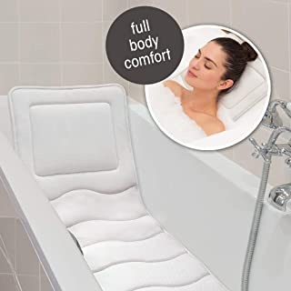 In Tub Lounger with Built In Pillow, Luxury Cushion, Supports Your Head, Neck, Shoulders, Back, and Tailbone
