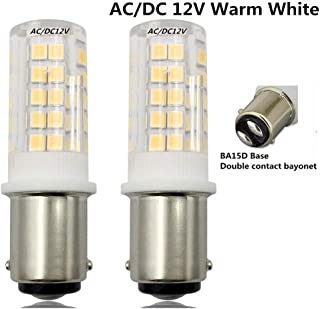Warm White BA15s 3000K B15 S25 LED Pygmy Bulb BA15d BA15s // Automotive Replacment Light Bulbs // 1141 1156 1073 1093 1129 // 2W 200 Lumens // 2 Pack Single Contact Bayonet Cap