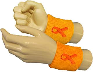 COUVER Premium Quality Childhood Cancer Awareness in September Gold Wristband with Ribbon