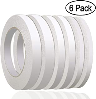 "236 Yards Double Sided Tape, Aniann 6 Rolls Heavy Duty Adhesive Sticky Tape Two Sided Tapes for Scrapbooking, Card Making, Gift Wrapping, Arts & Crafts ((1/4"", 1/3"", 1/2"" x 36m/39.4 Yards)"