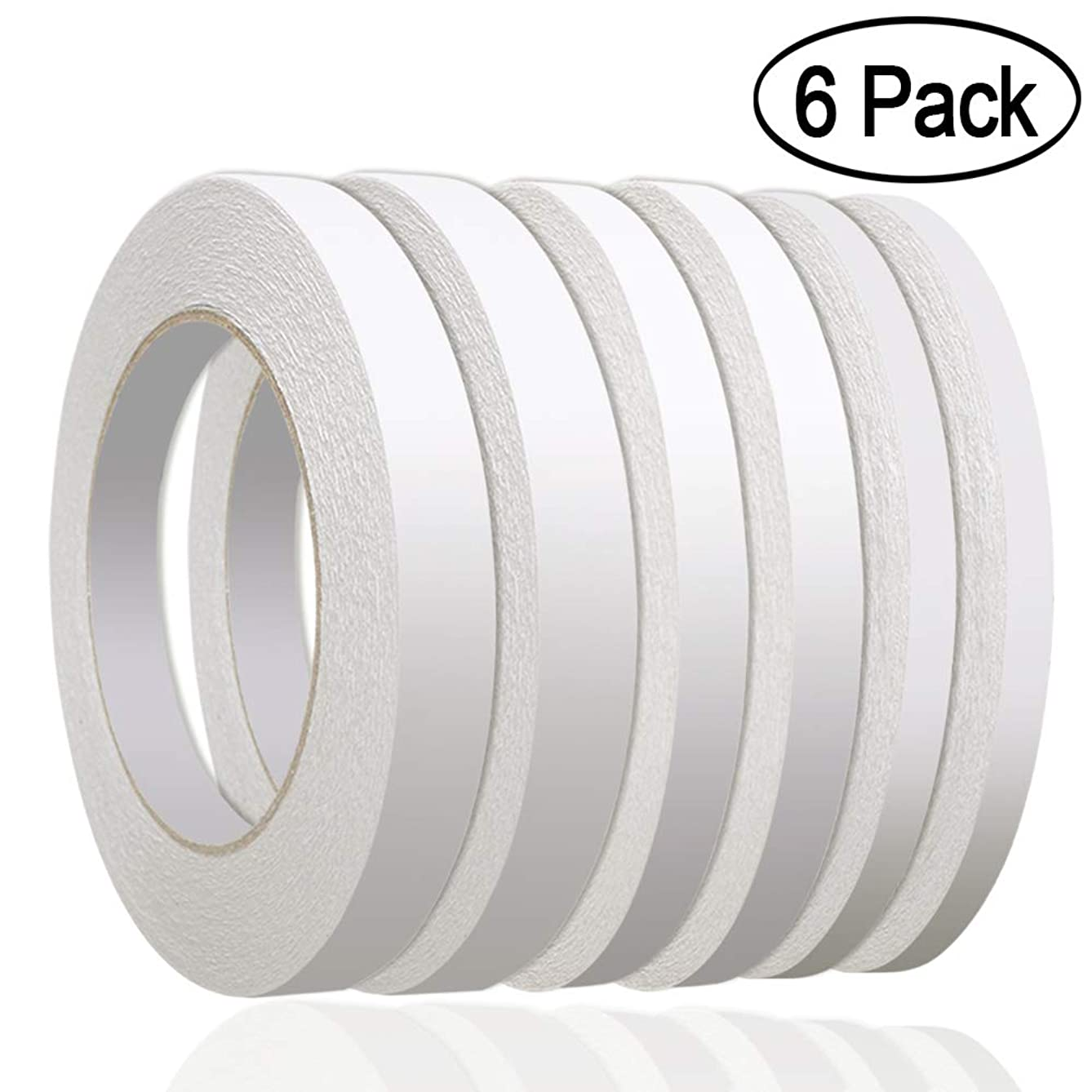 236 Yards Double Sided Tape, Aniann 6 Rolls Heavy Duty Adhesive Sticky Tape Two Sided Tapes for Scrapbooking, Card Making, Gift Wrapping, Arts & Crafts ((1/4