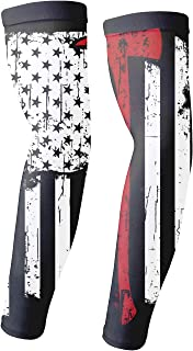 Temporary Tattoo Fireman Red Line American Flag Arm Sleeves Arts Sunscreen Sports Cooling Protective Gloves