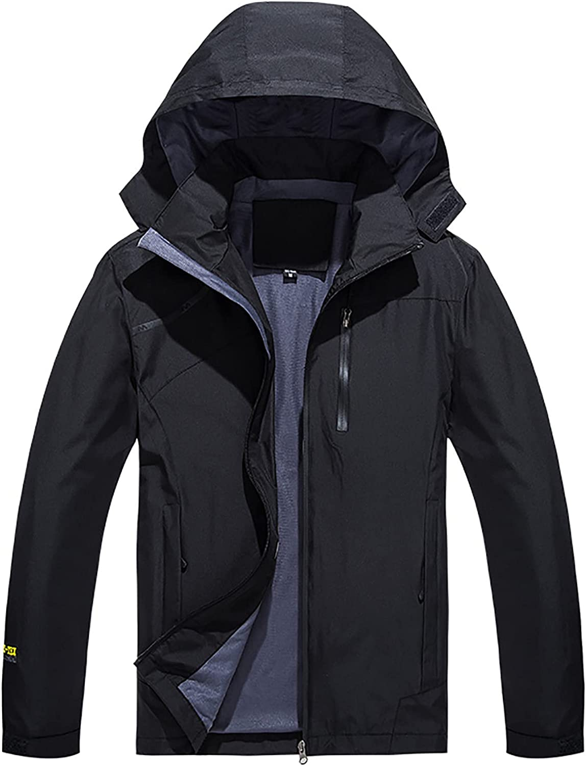 2021 Fashion Jacket for Men's Hooded Windbreaker Thin Jacket Casual Zipper Loose Plus Size Outdoor Sports Coat Trench