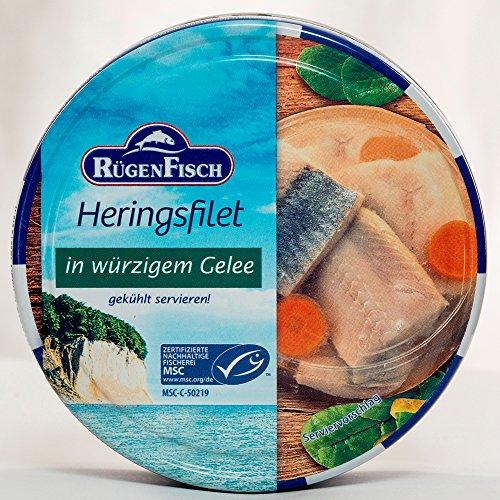 Heringsfilets in würzigem Gelee 200g Rügenfisch - DDR Traditionsprodukte