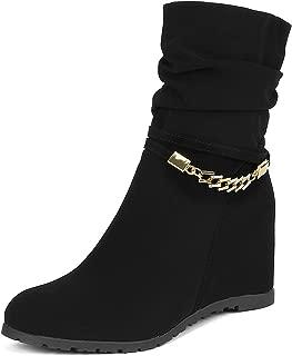 Best black mid calf platform boots Reviews