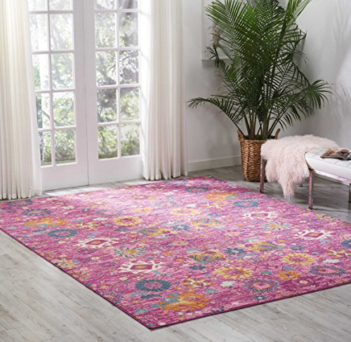 Nourison PSN01 Passion Bright Colorful Bohemian Fuchsia Area Rug 8' x 10'