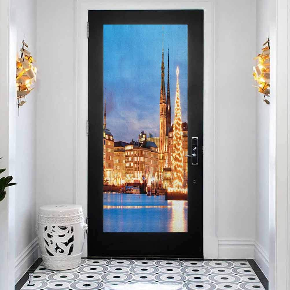 3D Self-Adhesive Max 70% Washington Mall OFF Stained Glass Window Sticker Winte Murals Door