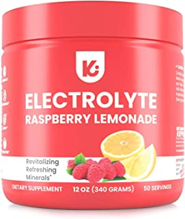 Keto Electrolyte Powder - No Carbs and No Sugar - Advanced Hydration Raspberry Lemonade Electrolytes Supplement, Boost Ene...