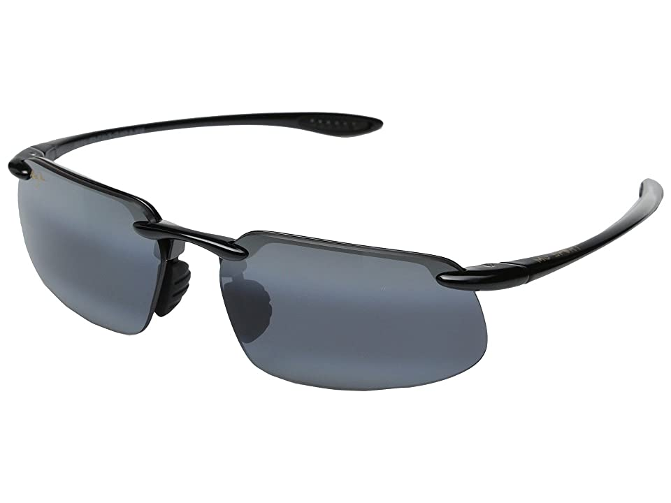 Maui Jim Kanaha Universal Fit (Gloss Black/Neutral Grey) Fashion Sunglasses