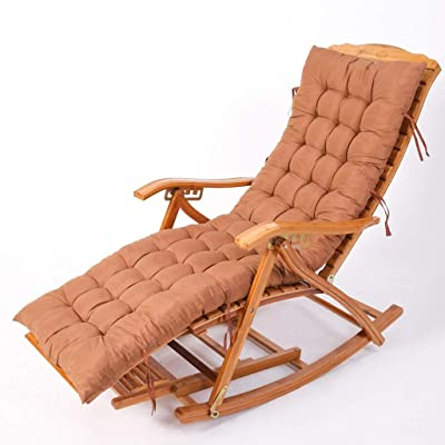 Amazon.com: Folding Rocking Chair Lounge Chair Deck Chair ...