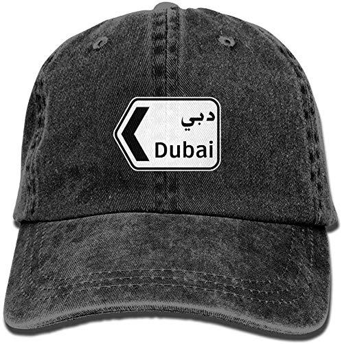 fenrris65 Men Women Classic Denim Dubai Adjustable Baseball Cap Dad Hat Low Profile Perfect for Outdoor