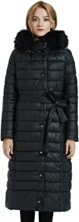 Bellivera Puffer Winter Jackets for Women,The Lightweight Padding Coat with Hood Fur Collar Warmth Outerwear