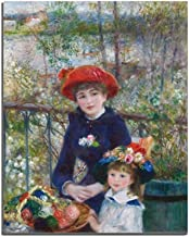 Baocicco 16x20 Inch Pierre Auguste Renoir Two Sisters on The Balcony Canvas Print Picture House Wall Decor Canvas Wall Art Painting Oil Painting Decor Living Room Bedroom Wedding Room No Frame Poster