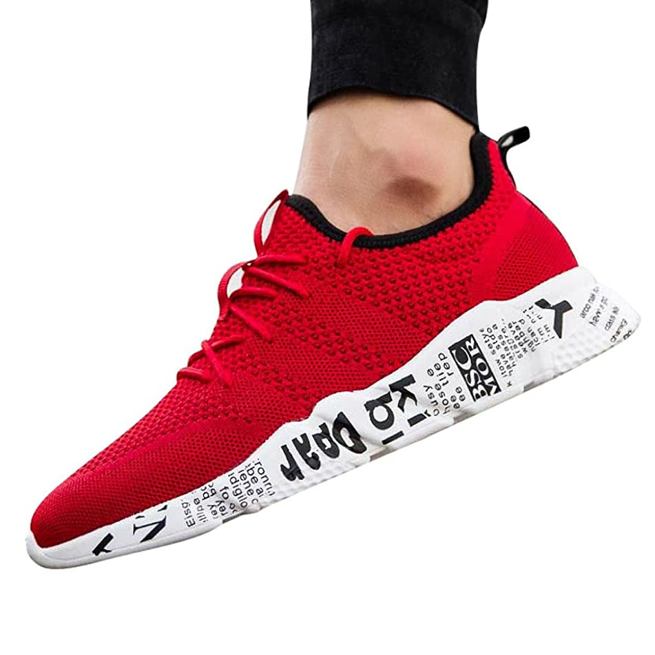 Men Running Sneakers,Hemlock Lace up Sports Shoes Flats Sandals Breathable Athletic Shoes