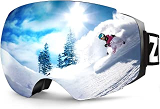 ZIONOR X4 Ski Snowboard Snow Goggles Magnet Dual Layers Lens Spherical Design Anti-Fog UV..