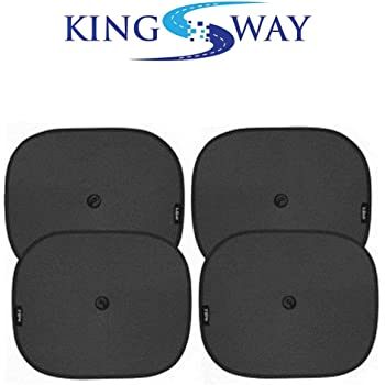 Kingsway kkmsssbk40090 Sticky Sun Shades Window for Renault New Duster (Set of 4, Black)