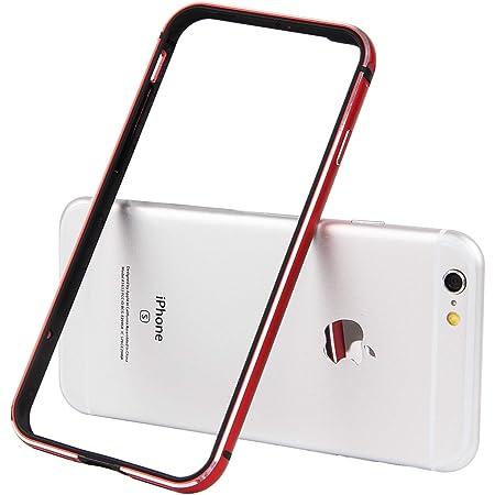 iPhone SE(2020) バンパー iPhone 8 バンパー,Imikoko iPhone8 ケース/iPhone7 ケース アルミバンパー 二重構造(アルミフレーム/TPU)衝撃吸収 レッド (iPhone7, レッド)