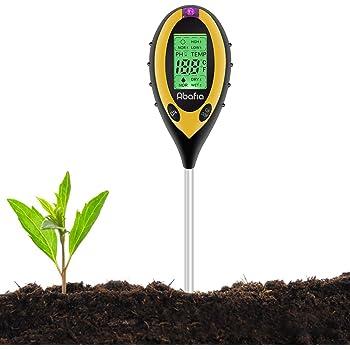 Jardin Hygrom/ètre 4 en 1 Testeur de Sol Avec Batterie 9V pour Humidit/é PH Temp/érature( Puis Offre Une Notice en Francais et La Facture Via Mail) Lumi/ère du Soleil