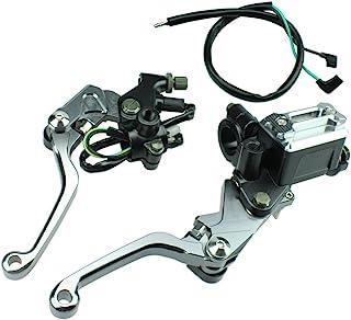 FXCNC Racing Billet Universal 7/8' Dirt Bike Clutch Brake Levers Master Cylinder Reservoir Fit For Honda CRF150R 2007 2014, CR125R/250R 1992 2007,CRF250R 2007 2014 Motocross Adjustable