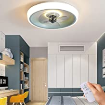 Moderne led-plafondventilator met verlichting, dimbaar, 36 W, ventilatorplafondlamp, ultrastil, kinderkamer, lichtbron, in...