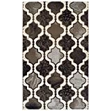 SUPERIOR Gudrun Indoor Area Rug, Super Soft, Durable, Elegant, Geometric, Trellis Pattern, Mid-Century, Contemporary, Jute Backing, Chocolate, 5' x 8' Rug