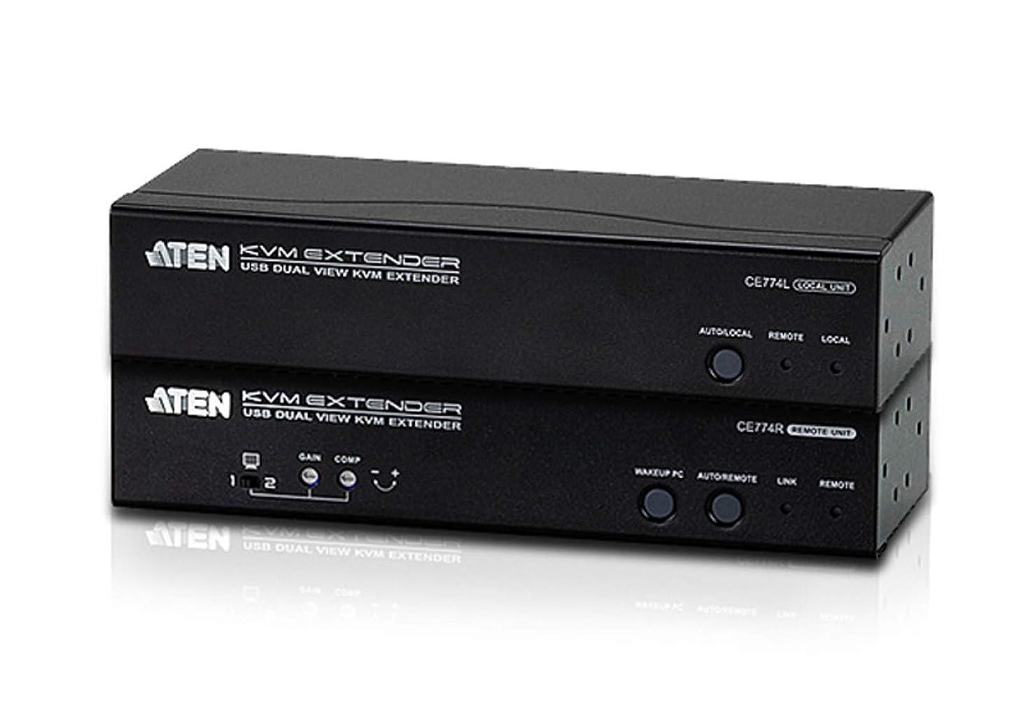 特異な周波数不正確【ATEN】【CE774】USB Dual View KVM Extender