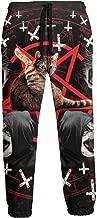 Summermf Satanic Cat Pentagram Death Black Metal Joggers Pants Trousers Sport Track Sweatpants Mens