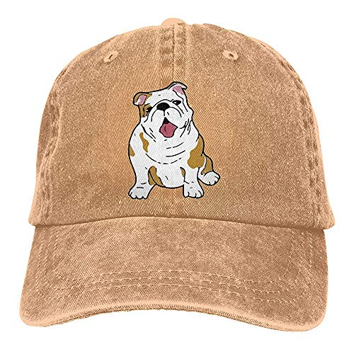 Gorra Unisex Bulldog Inglés Chic Denim Vintage Ajustable Papá Sombreros Gorra De Béisbol