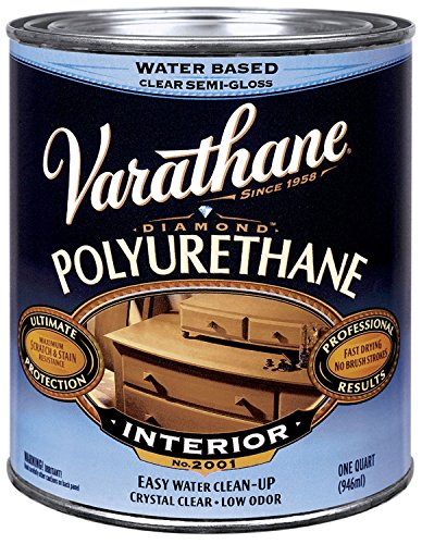 Varathane 200241H 1 Qt Satin Intr Water-Based Diamond Polyurethane Finish