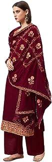 فستان هندي باكستاني حقيقي جورجيت مستقيم للنساء زي حفلة مسلم فستان بوليوود تصميم أنيق 6059
