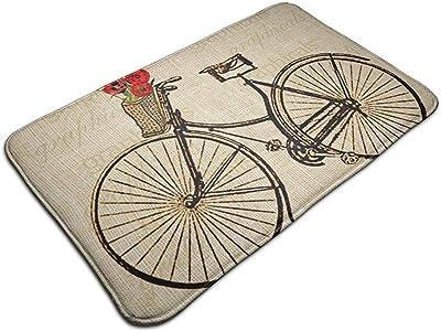Traveler Bicicleta Vintage con Flores Picture by Mat Alfombrillas ...