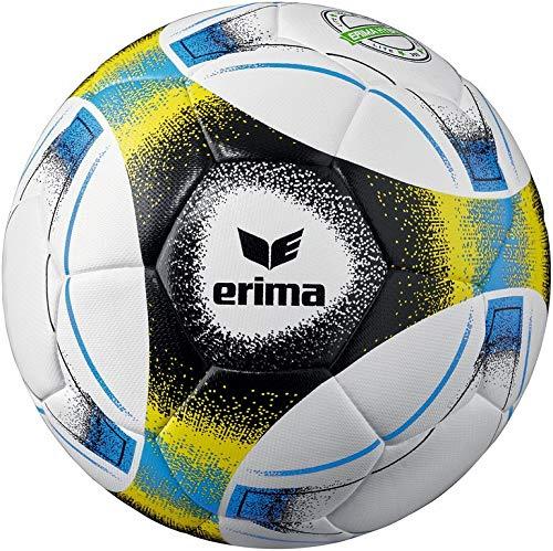 Erima Unisex– Erwachsene Hybrid Lite 350 Fußball, blau/schwarz/gelb, 4