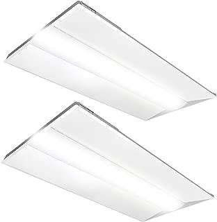 LumeGen 2x4ft LED Troffer - 50W - Dimmable - 6,250 Lumens, 2-Pack (5000K)
