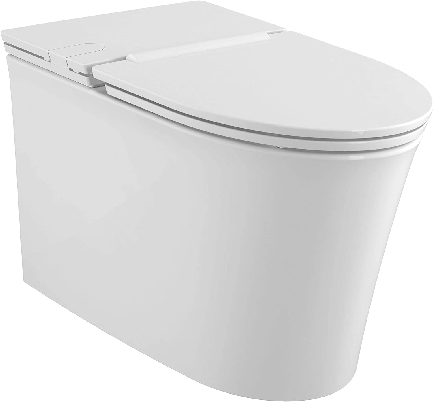 American Standard 2548A100.020 Studio S Right Height Elongated Low-Profile Toilet with Seat, White
