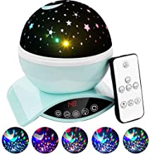 Foreita Remote Control Star Light Rotating Projector Night Lights,Best Gifts for Kids Baby Children - Green