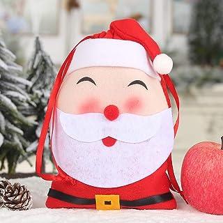 Weihnachtsschmuck, Chshe ™, Weihnachtsgeschenk-BonbontüTe Non-Woven Drawstring Candy Treat StrüMpfe Party Holder Pouch(A)