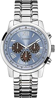 Guess Horizon Men's Blue Dial Stainless Steel Band Watch - W0379G6
