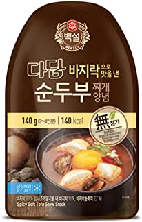 Korean Pre-made Easy To Make Packaged Soup 140g (Spicy Soft Tofu, 12 Pack)